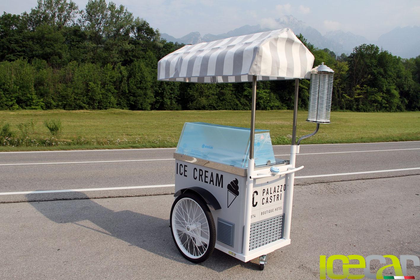 carretti del gelato Palazzo Castri